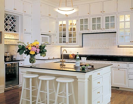 White Glass Kitchen Cabinets