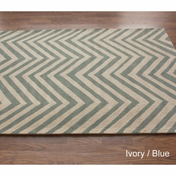 Alexa Chevron Blue Rug